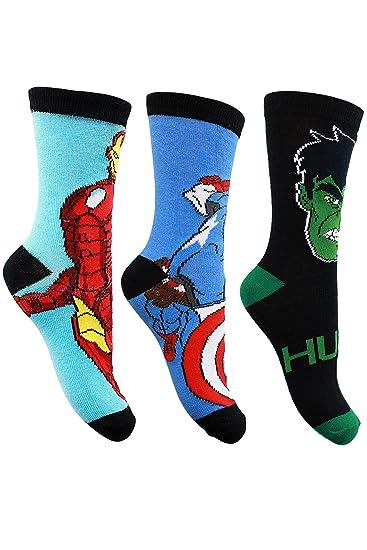 Avengers - Calcetines hasta la rodilla - para niño surtidos 35-38