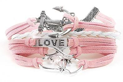 1e96f86f2 Leather Multilayer Bracelet I Trendy Leather Wrap Charm Bracelet | Genuine Leather  Bracelet for Teenage Girls