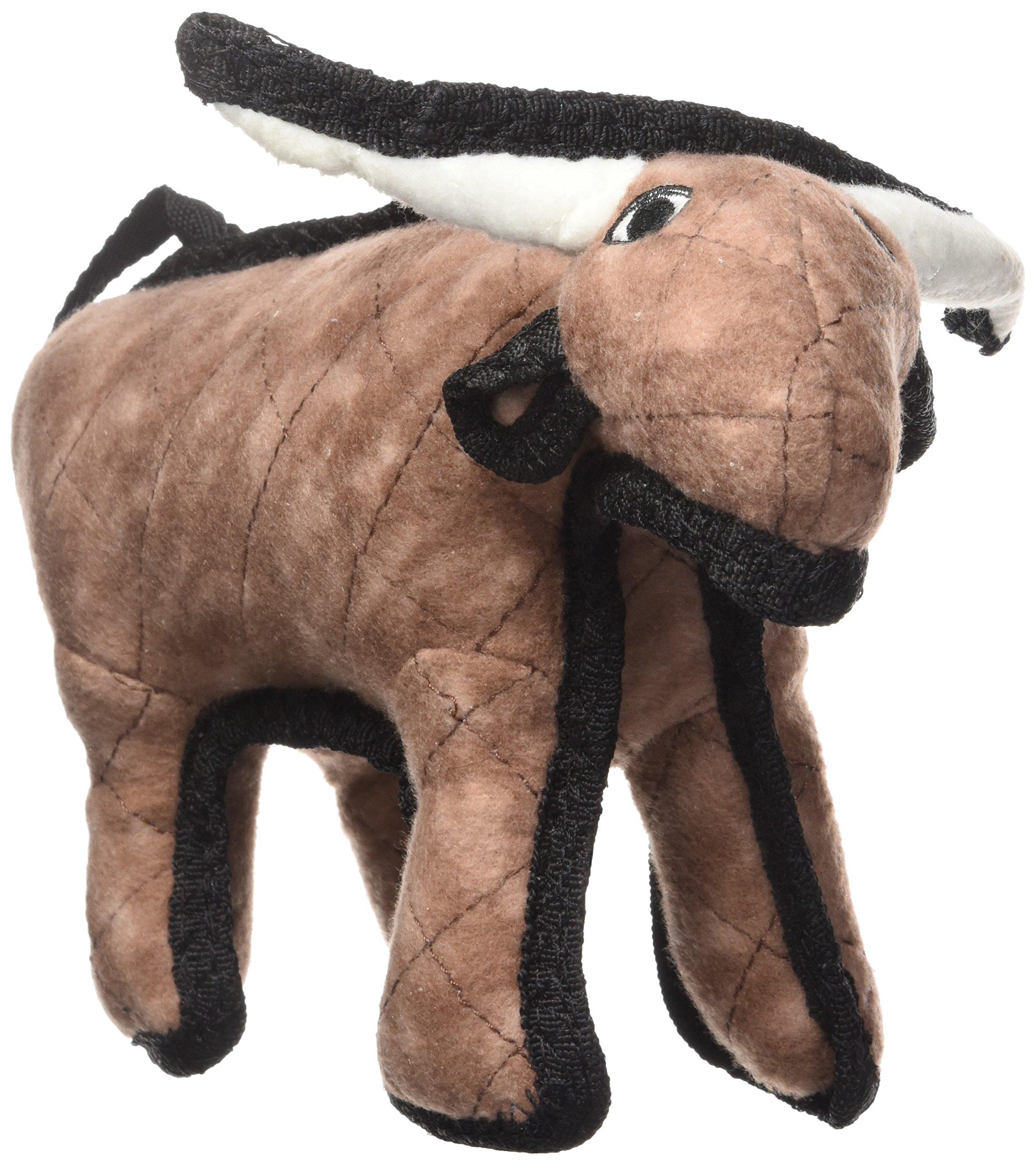 TUFFY Junior Barnyard Animal Bull, Durable Dog Toy, Small by TUFFY