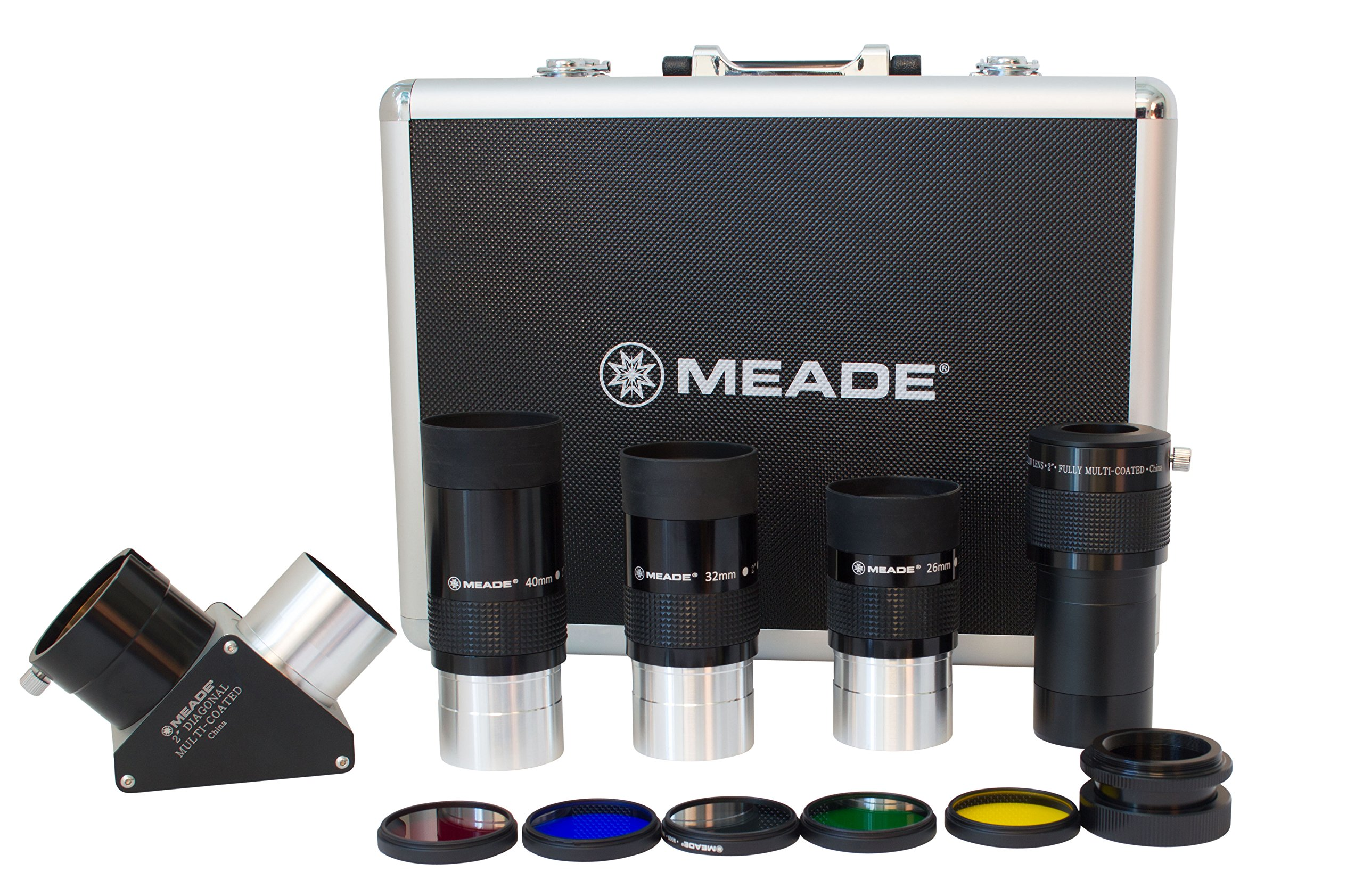 Meade Instruments 607010 Series 4000 2-Inch Eyepiece and Filter Set (Black) by Meade Instruments