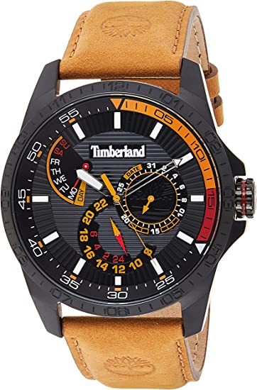 legación binario Misterio  Timberland Mens Multi dial Quartz Watch with Leather Strap TBL15641JSB.02:  Amazon.co.uk: Watches