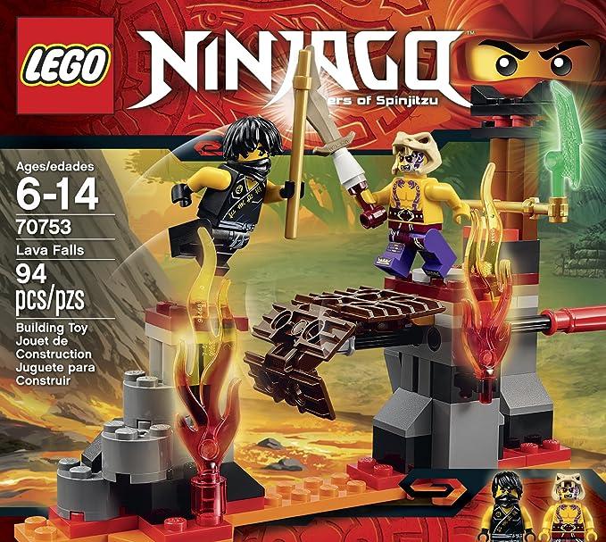 Amazon.com: Juguetes de Ninjago cayendo a la lava de LEGO ...