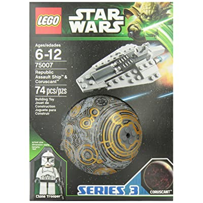 LEGO Star Wars Republic Assault Ship and Coruscant (75007): Toys & Games [5Bkhe1103677]
