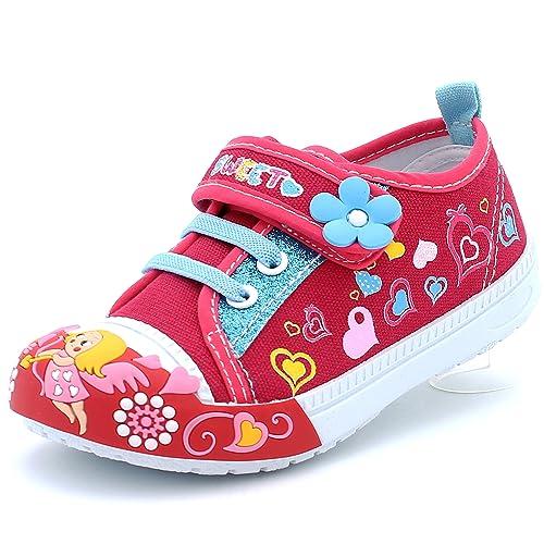 Boys' Shoes Light Up Girls Baby Toddler Glitter Strap Canvas Sneaker Tennis Shoe Pink Purple