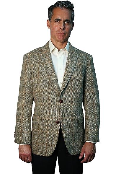 Harris Tweed Sportcoat - Beige Overplaid (44 Long) at Amazon Men's ...