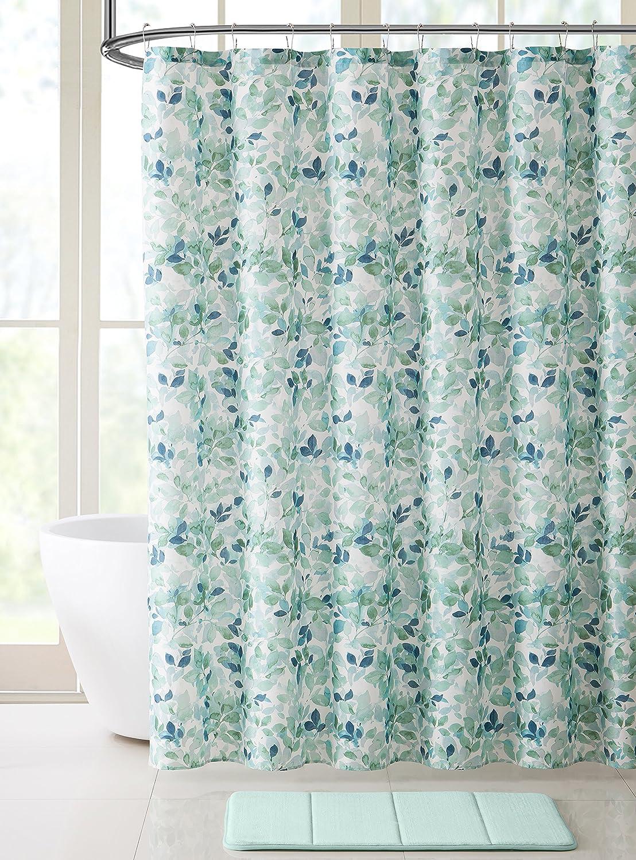 Amazon.com: VCNY Home Bathroom Fabric Shower Curtain: Lush Nature ...