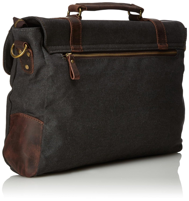 Estarer 17.3 Inch Laptop Messenger Bag Water-resistance Canvas Computer Bag for Office Work College Upgraded Version MBM166ggr