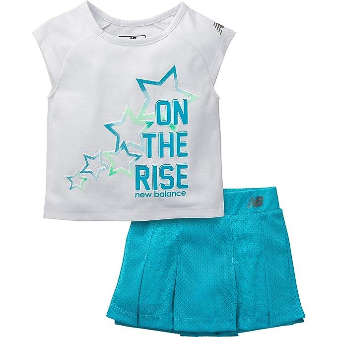 6755a660b8a Amazon.com  New Balance Girls  Graphic T-Shirt and Skort Gray Ozone ...