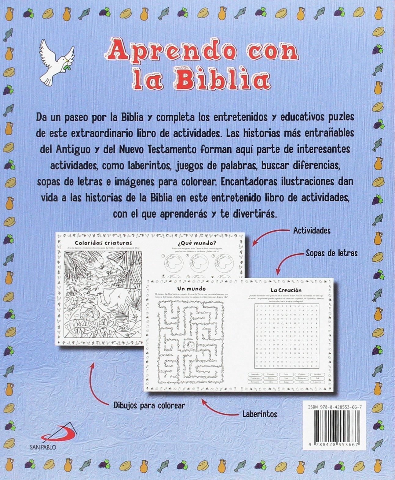 Aprendo Con La Biblia Libro De Actividades Pequelibros Biblicos