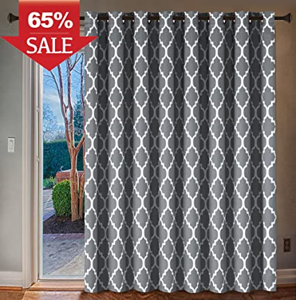Amazon Hrsailtex Wide Blackout Patio Door Curtain Home