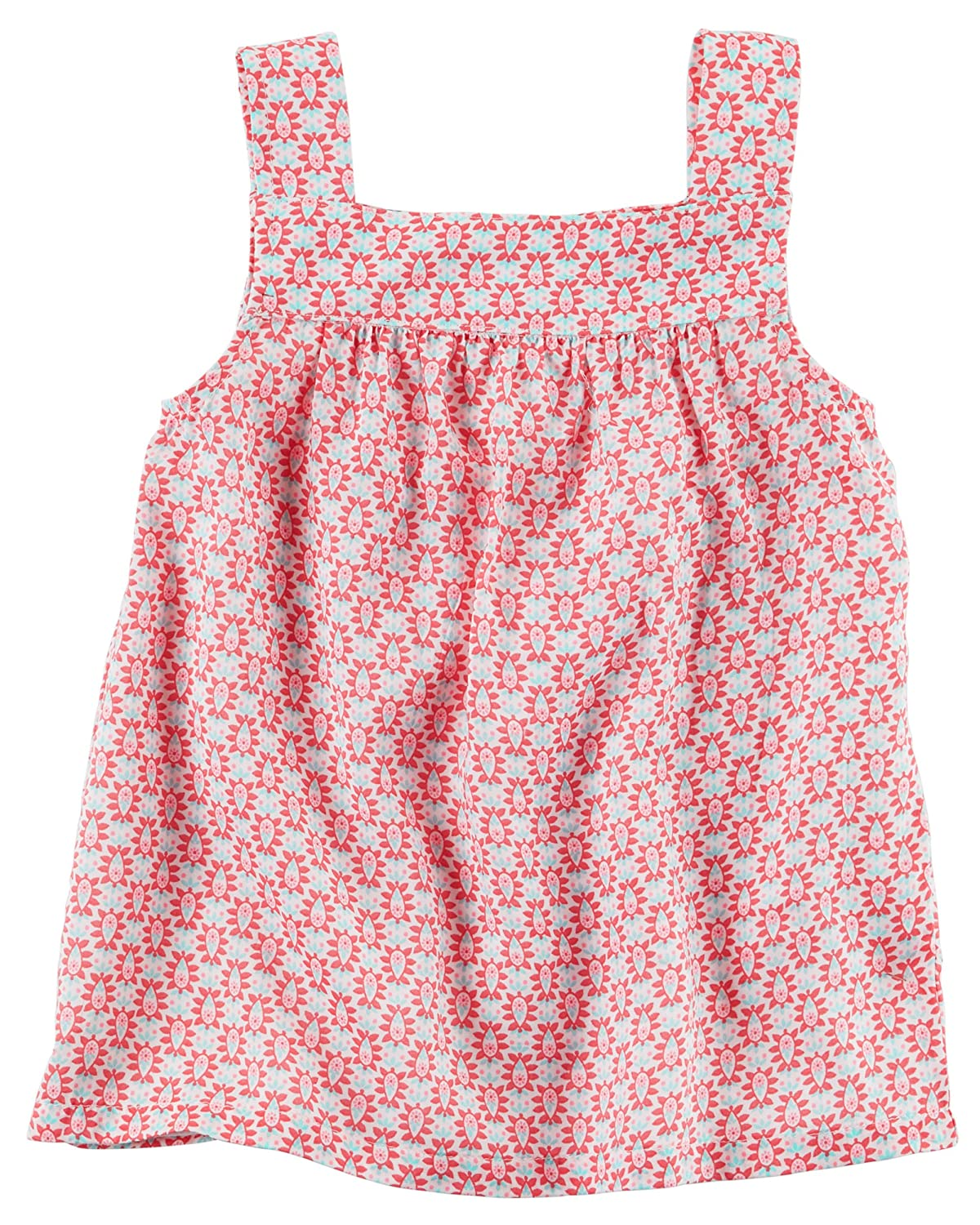 Carters Girls Flowy Printed Tank Pink, 5 Kids