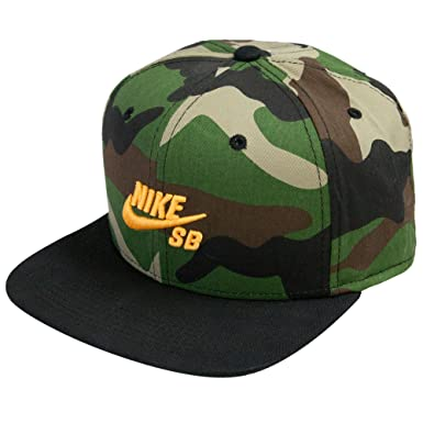 54f9027a1 NIKE Men's SB Camo Snapback Hat, Military at Amazon Men's Clothing store