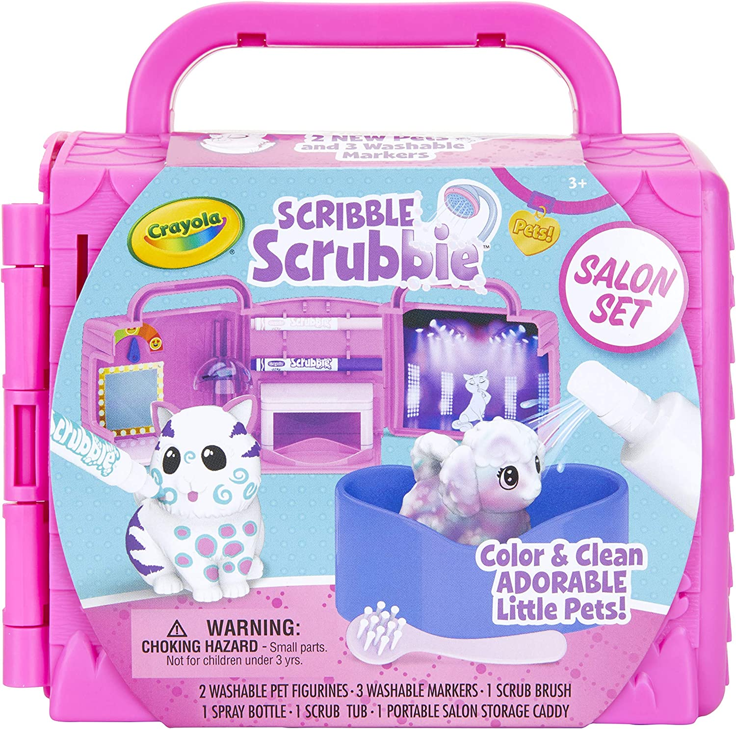 Crayola Scribble Scrubbie Pets  Beauty Salon Playset with Toy Pets  Gift for Kids