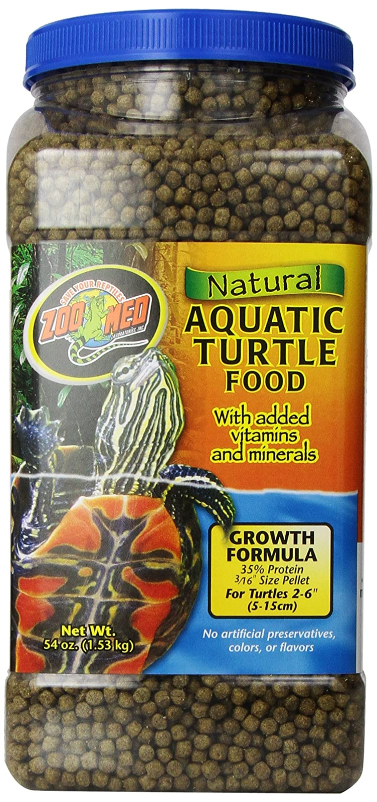 Zoo Med Natural Aquatic Turtle Food Growth ZM54 - 1