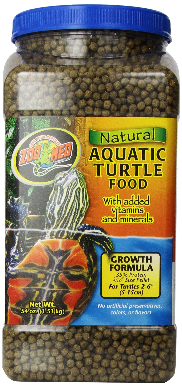Zoo Med Natural Aquatic Turtle Food, Growth Formula, 54-Ounce