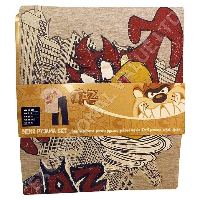Oficial de Demonio de Tasmania Taz - Juego de Pijamas Top & Pantalones de Lounge tamaño pequeño S: Amazon.es: Ropa y accesorios
