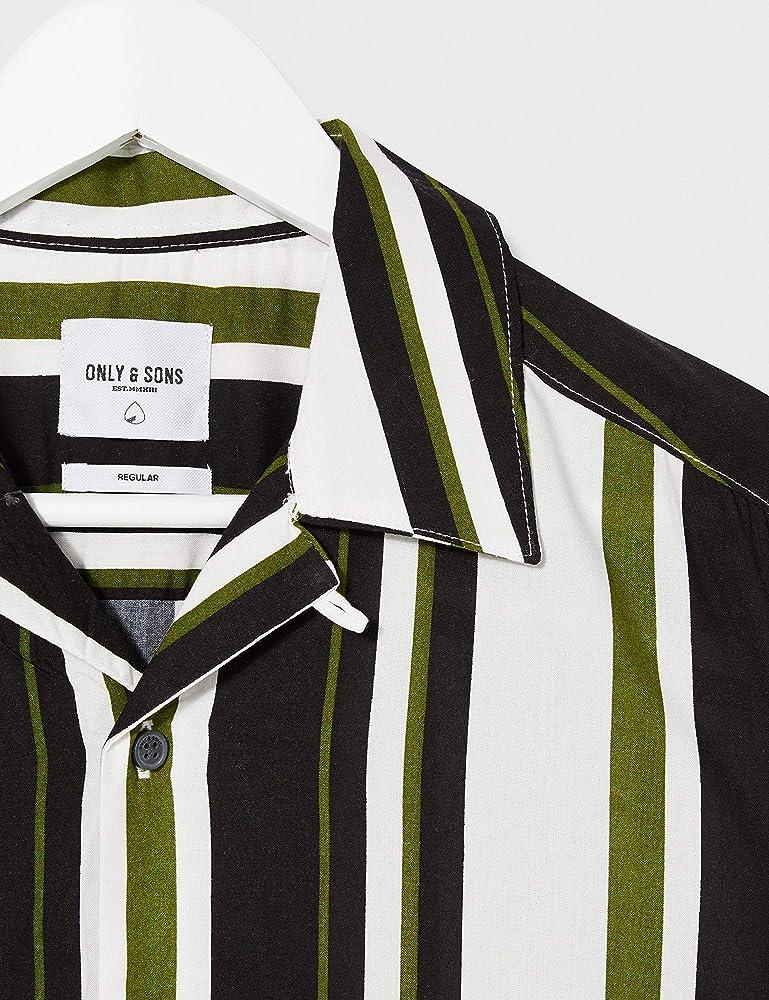Only & Sons Onswayni SS Striped Viscose Shirt Noos Camisa, Pesto, XS para Hombre: Amazon.es: Ropa y accesorios