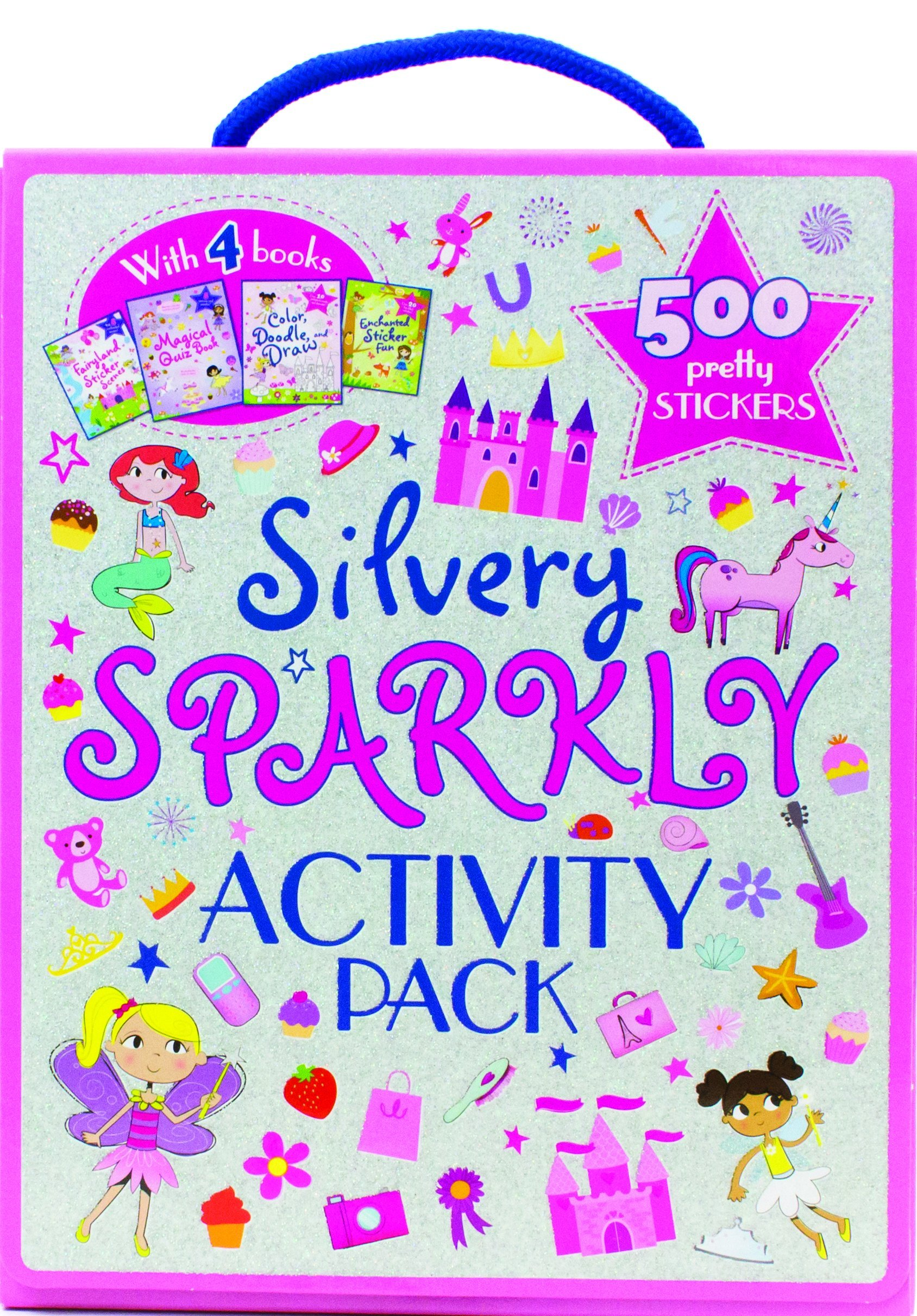 Read Online Silvery Sparkly Activity Pack: With 4 Books and 500 Pretty Stickers ebook