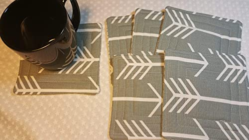 Set of 4 hand quilted coasters