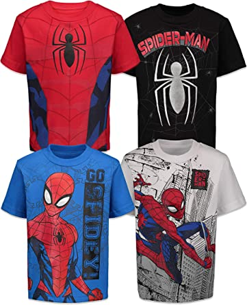 Marvel Spiderman Boys T-Shirt New Red Officially Licensed super hero