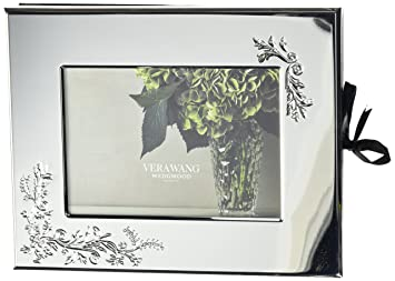 Amazoncom Wedgwood Vera Lace Bouquet Guest Book Photo Frame 5 X 7