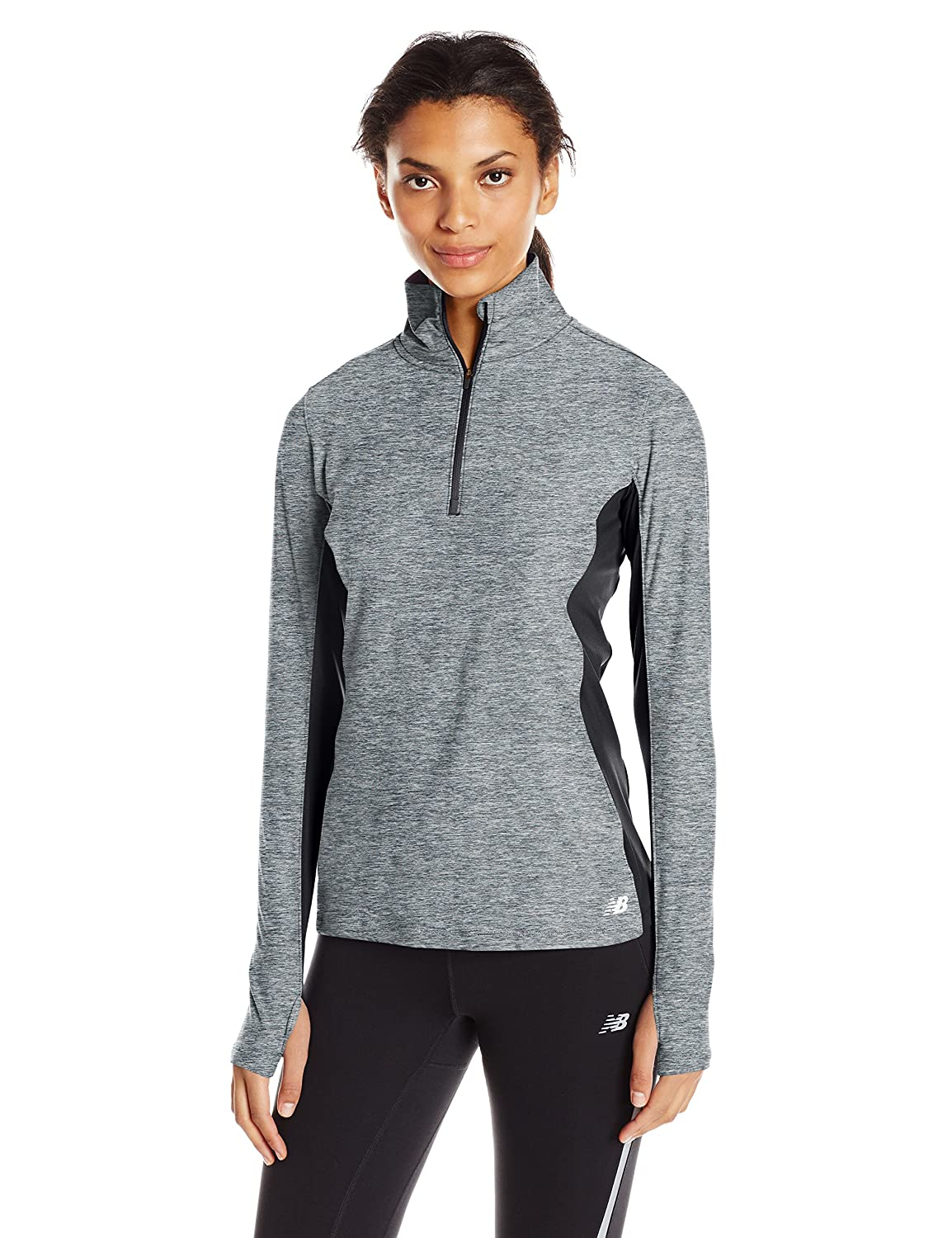 New Balance Women's Space Dye Quarter Zip Top