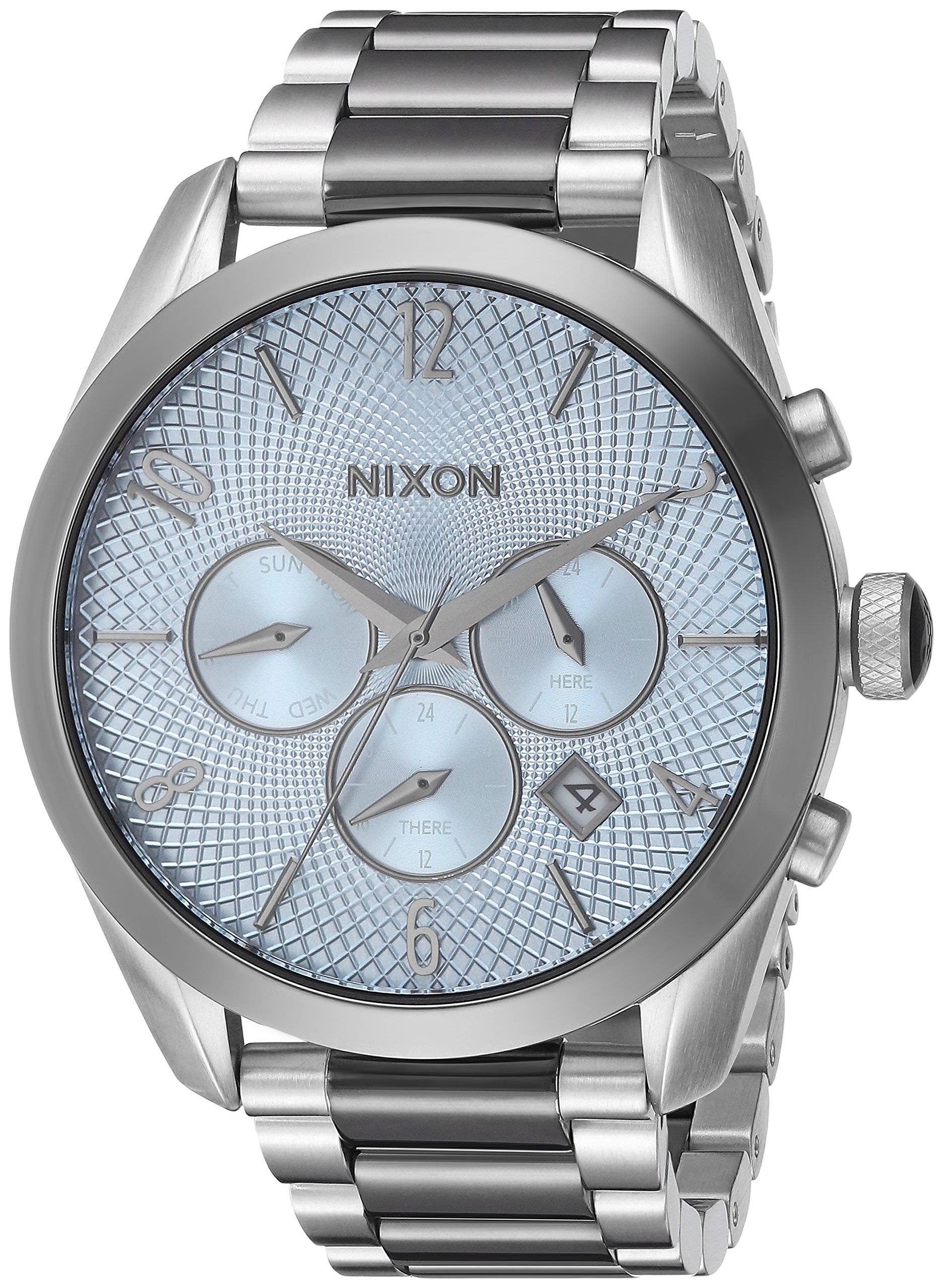 Nixon Women's 'Bullet Chrono' Quartz Stainless Steel Watch, Color:Silver-Toned (Model: A3662363-00)