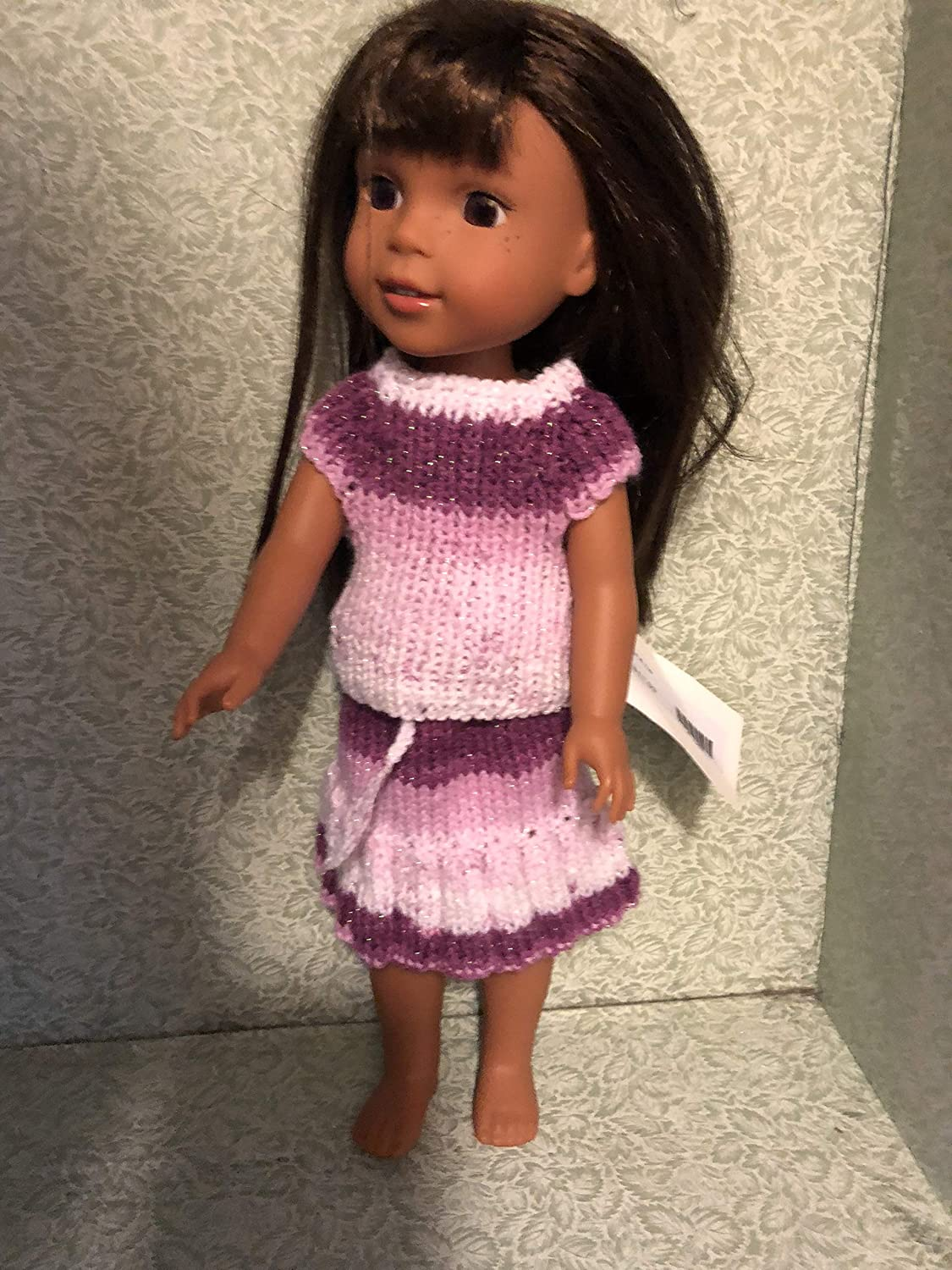 Welie Wisher Doll Skirt and Top Hand Knitted