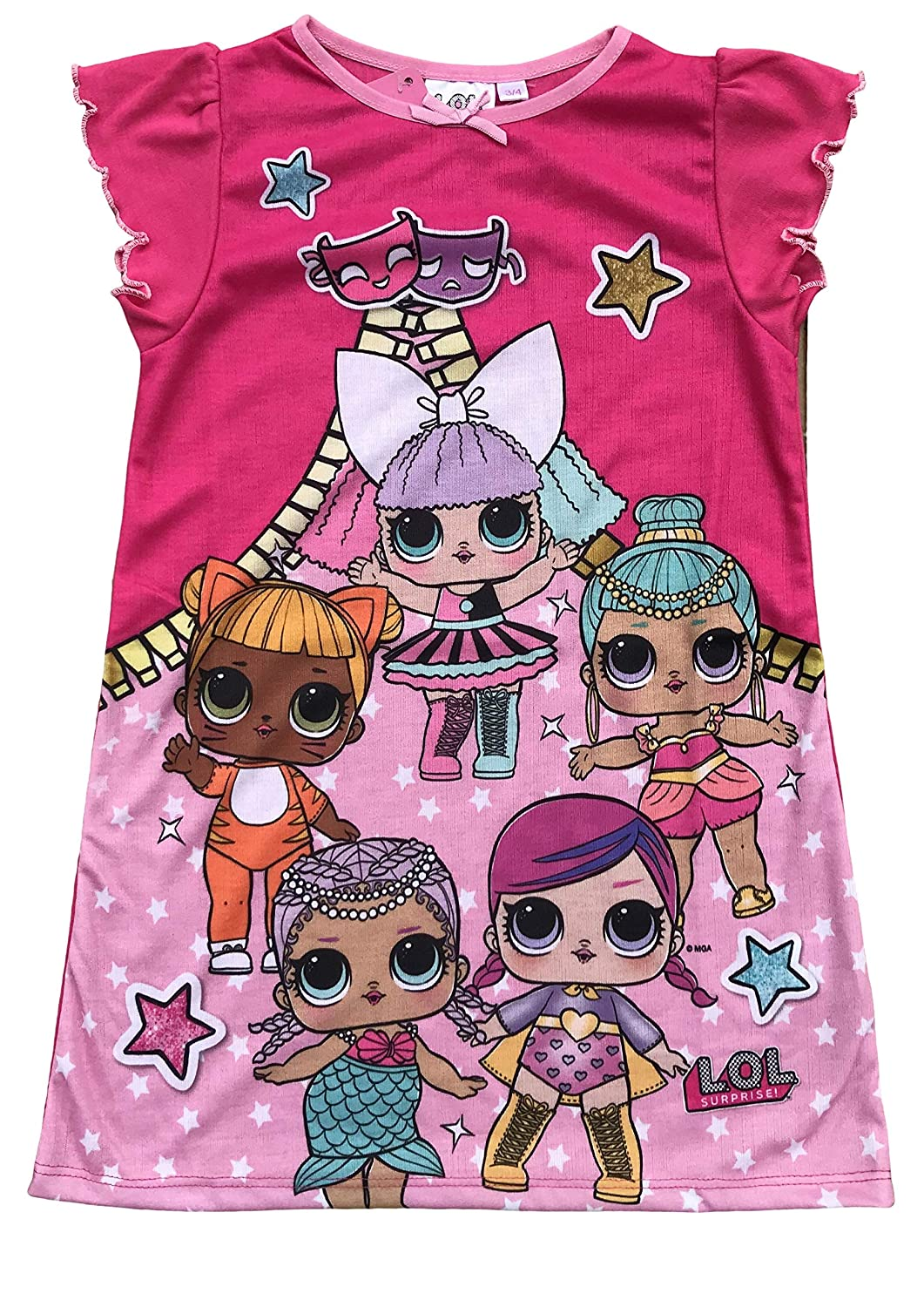 Girls Nightie LOL Surprise Paw Patrol My Little Pony Peter Rabbit Skye Kids Nightwear Ages 2 up to 8 Years