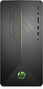 HP Pavilion Gaming PC Desktop Computer, AMD Ryzen 5 2400G, AMD Radeon RX 580, 8GB RAM, 1TB hard drive, Windows 10 (690-0020, Black)
