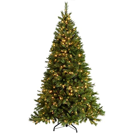 Pictures Of Christmas Trees.Werchristmas Pre Lit Victorian Pine Multi Function Christmas Tree With 500 Warm White Led Lights Green 7 Feet 2 1 M