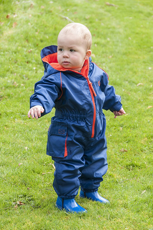 9a3c3b3b59d9 Hippychick Fleece Lined Waterproof All-in-One Suit - Blue ...