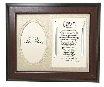 Poesie Anniversario Matrimonio.Love Is Patient Cornice Gift Poesia Capitolo Anniversario Di