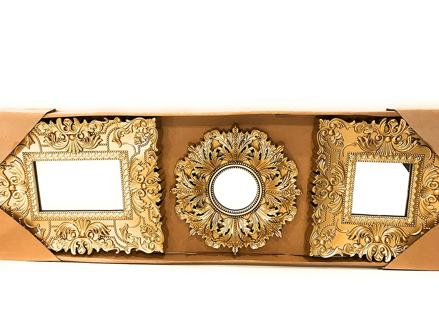 Baroque Gold Mirrors Amazon.com: Better Homes and Gardens Set Of 3 Baroque Wall Mirrors - Gold:  Home u0026 Kitchen
