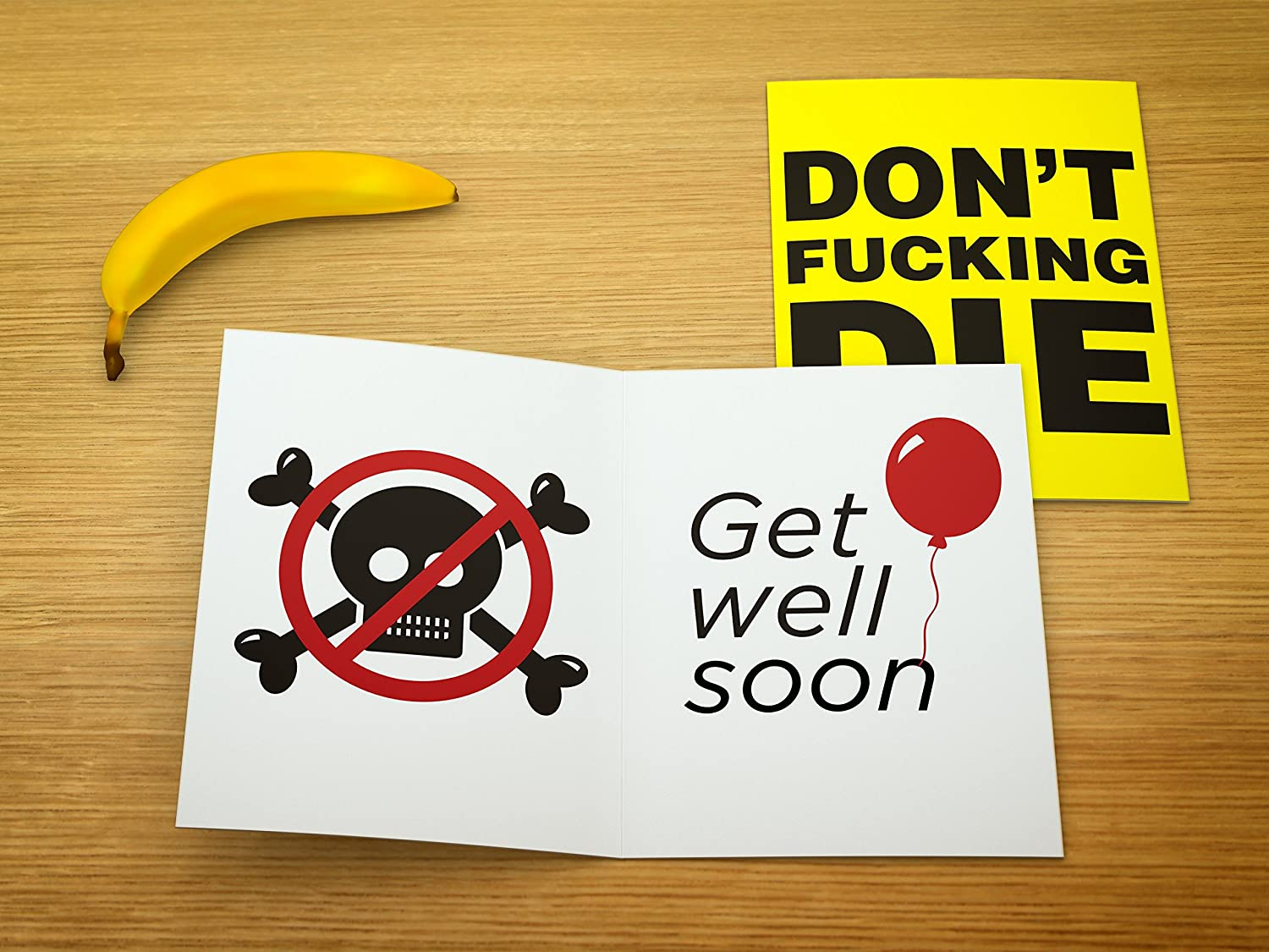 Amazon Large Get Well Soon Card Dont Fucking Die