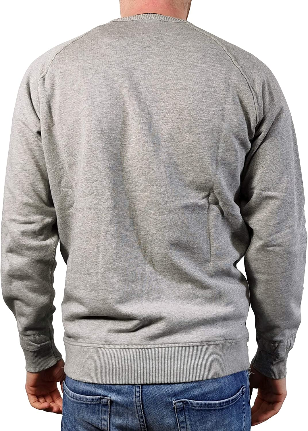 Diesel Mens Sweatshirt S-Orestes-Patch Grey