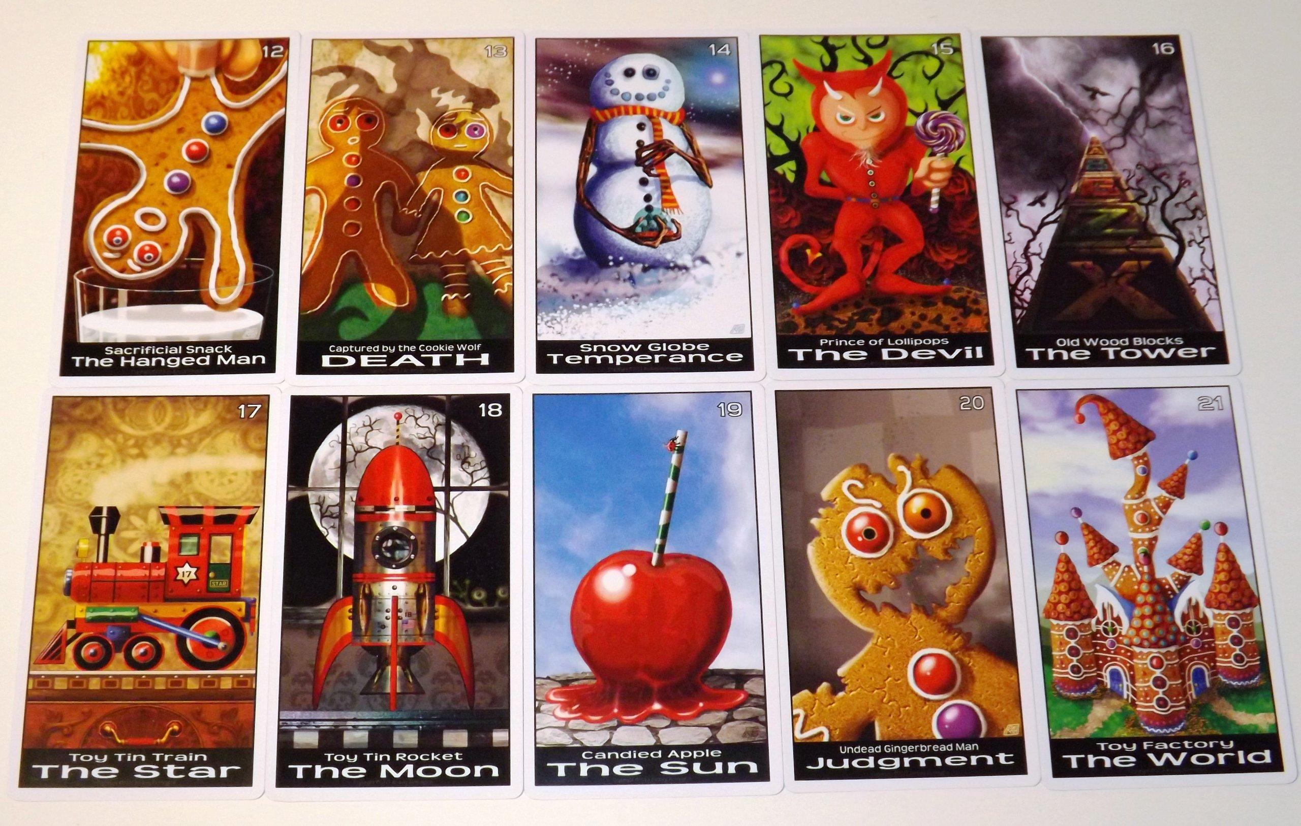 Twisted Toyland Tarot Cards - 22 Card Major Arcana Deck (With Handmade Tarot bag)