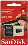 SanDisk SDSDQB-016G-B35 16 GB Class 2 MicroSD Card with MicroSD to SD Adapter