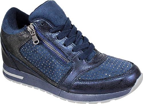 WUPAS-17592 Zapatillas de cuña para Mujer: Amazon.es: Zapatos y complementos