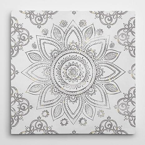 Amazon Com Wexford Home Mandala Sunburst Premium Gallery Wrapped Canvas 4 Art Print 16x16 Posters Prints