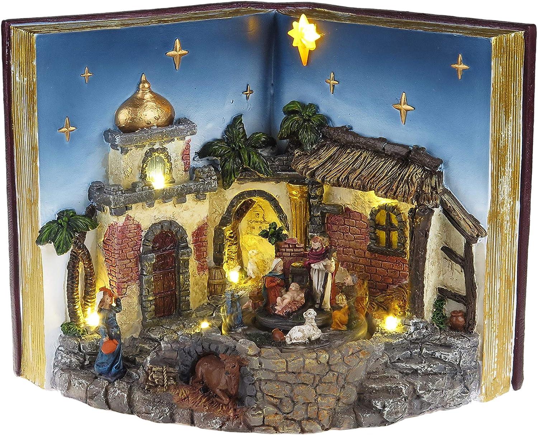 Mr. Christmas Animated Musical Nativity Holiday Decoration, One Size, Multi