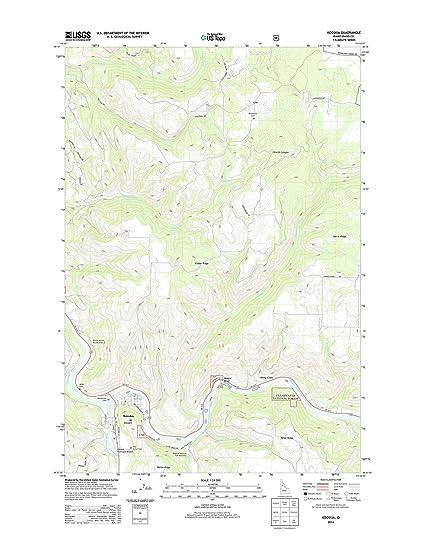 Amazon Com Topographic Map Poster Kooskia Id Tnm Geopdf 7 5x7 5