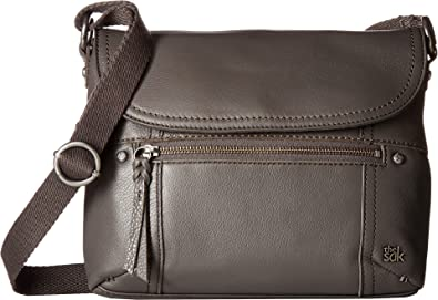 The Sak Women s Carson Leather Crossbody Slate One Size  Handbags ...