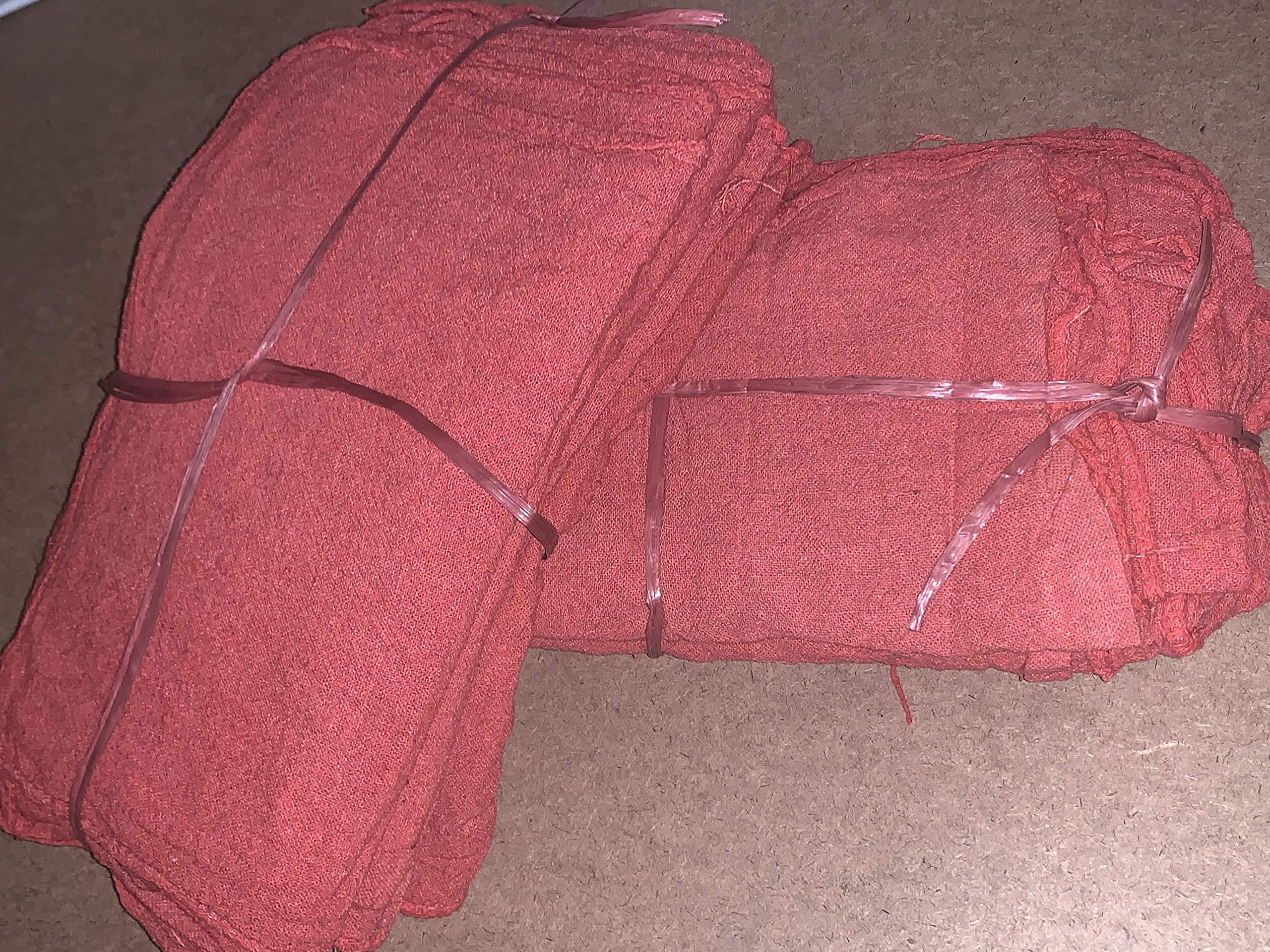 500 Red Shop Towels/Mechanics Rags/Shop Rag/Oil Change Rag Grade B by ITC