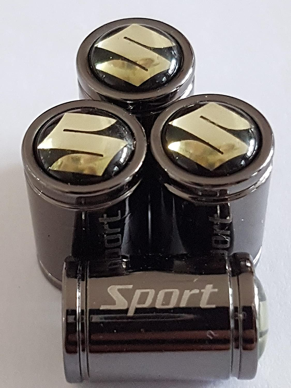 2 Speed Demons Premium Suzuki SPORT Titanium Deluxe Alloy Valve Dust Caps all Models