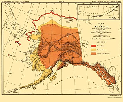 Amazon.com: Old State Map - Alaska Bear Habitat - Bien 1882 ... on montana fwp region map, bear habitats for school projects, us bear map, bear creek wi map, polar bear map, bear usa map, florida black bear population map, bear range in florida, brown bear distribution map, american black bear map, black bear distribution map, bear range map, grizzly bear map, bear black louisiana map, brown bear territory map, bear population by state map, black bear territory map, bear cat vietnam map, wi hunting zones map, alaska bear population map,