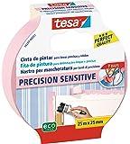 tesa TE56260-00001-02 Cinta de pintor PRECISION Sensitive 25mx25mm rosa, Standard