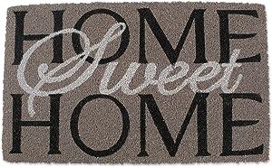 "J&M Home Fashions Natural Coir Coco Fiber Non-Slip Outdoor/Indoor Doormat, 18x30"", Heavy Duty Entry Way Shoes Scraper Patio Rug Dirt Debris Mud Trapper Waterproof-Home Sweet Home"