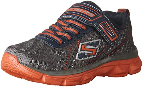 Skechers Flex Advantage 2.0-High Torque, Zapatillas para Niños, Gris (Charcoal/Orange), 27 EU