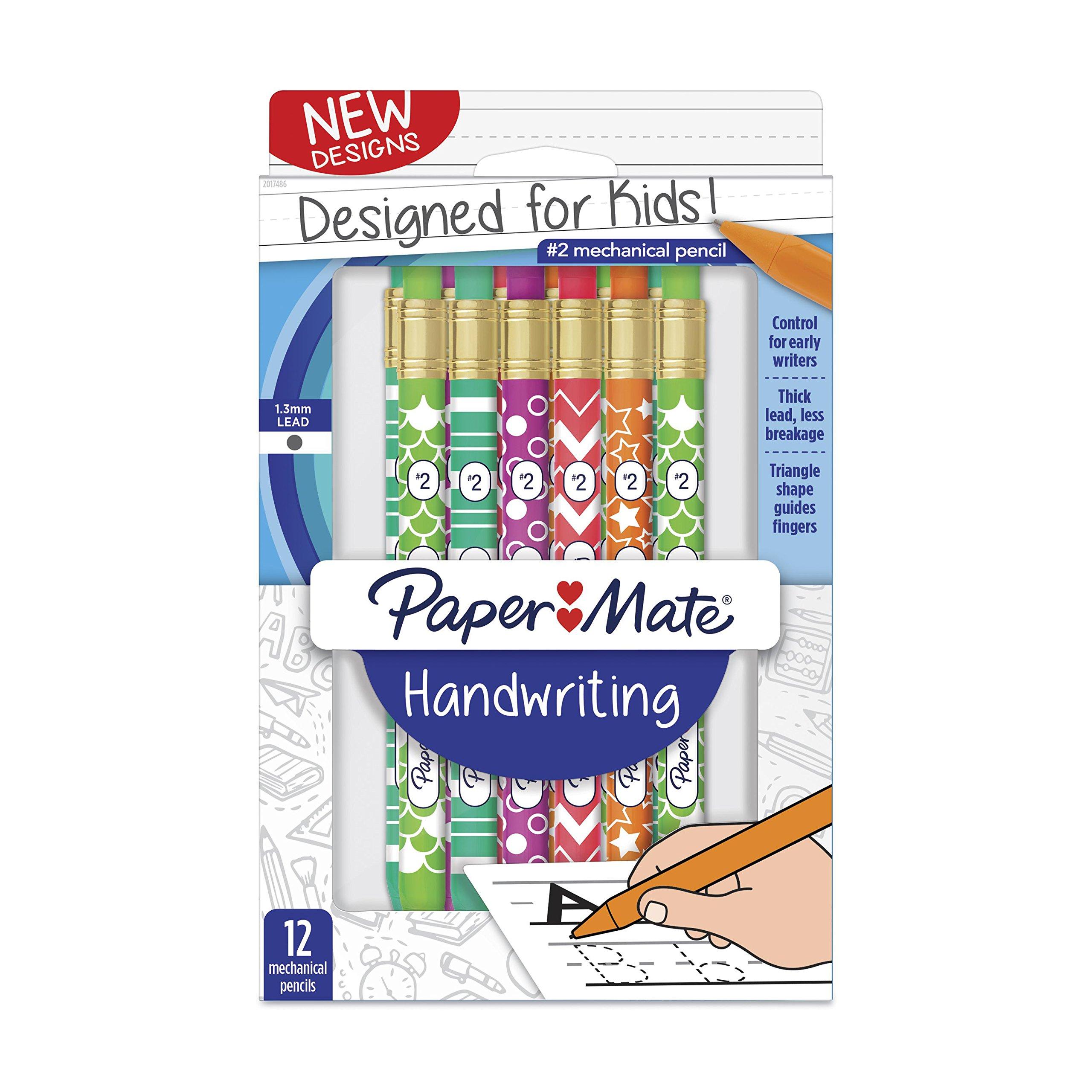 Paper Mate Handwriting Mechanical Pencils, Fashion Wraps, 12 Count (2017486)